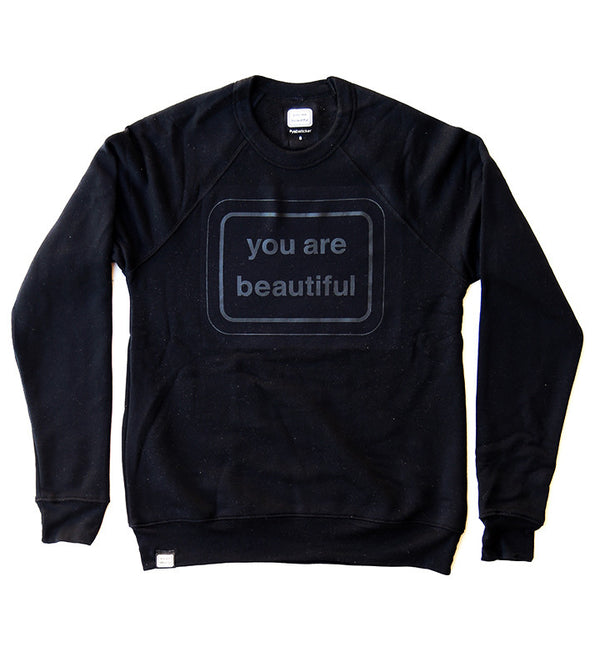 You Are Beautiful Classic Crew - Black