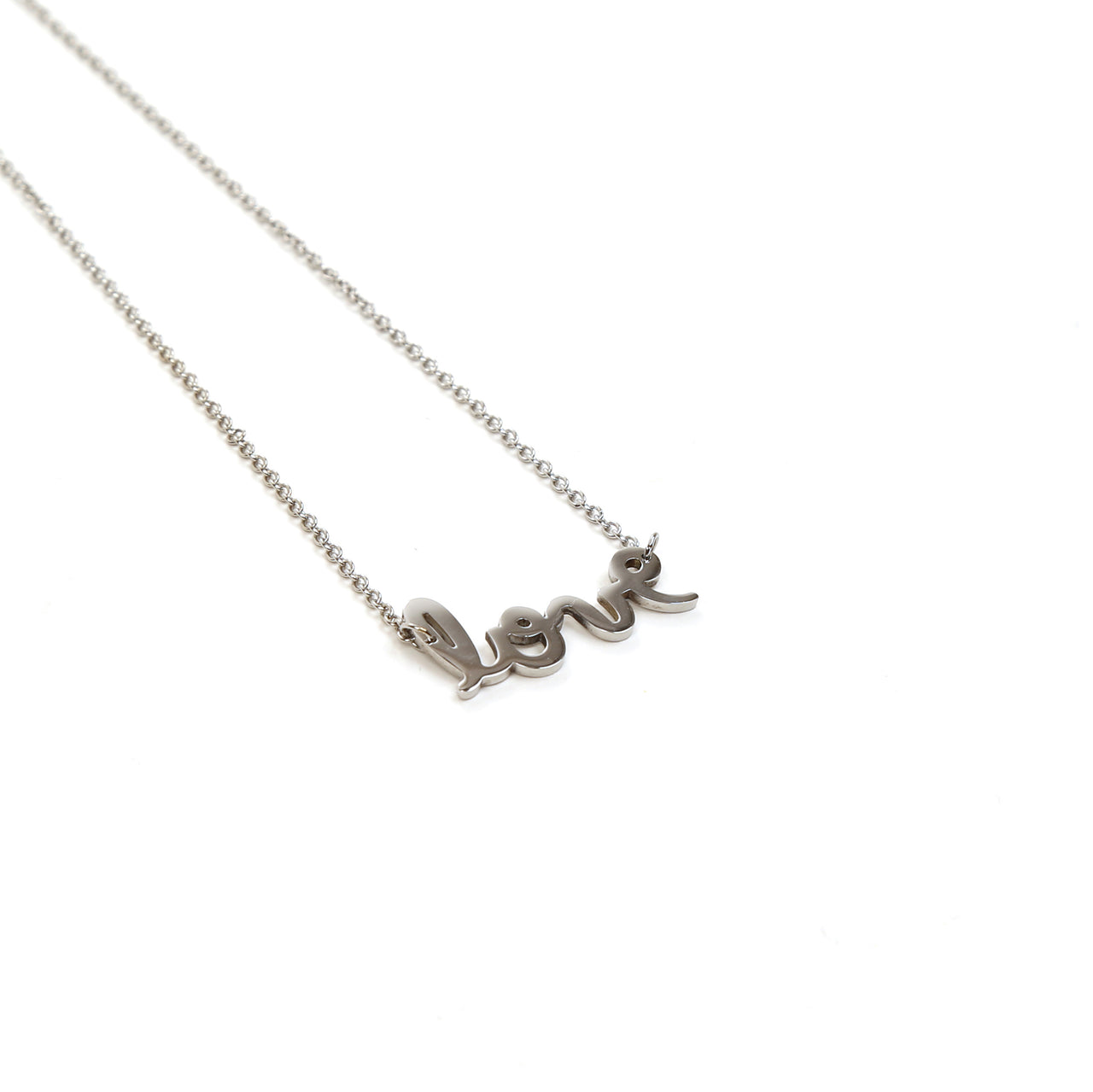 Love Cursive Necklace