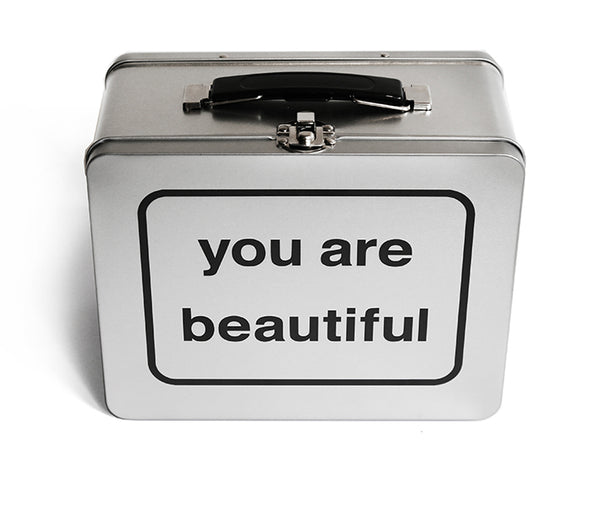 You Are Beautiful Lunch (or Sticker) Box