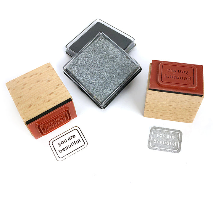 You Are Beautiful Mini Rubber Stamp Kit