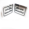 You Are Beautiful Mirrored Classic Stickers
