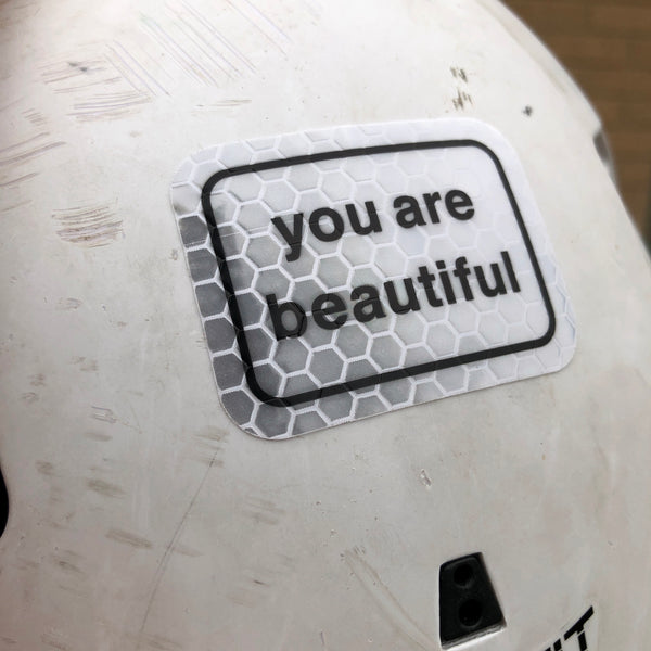 You Are Beautiful Reflective Classic Stickers