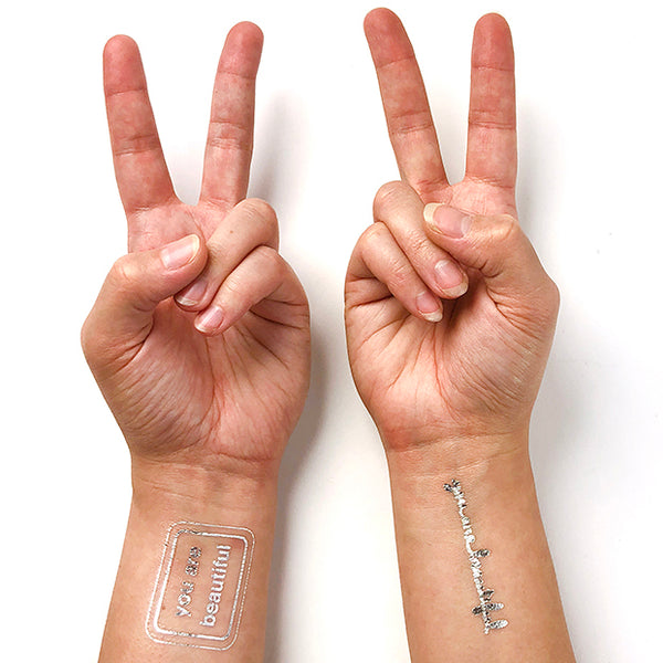 You Are Beautiful Metallic Tattoos - Combo Pack