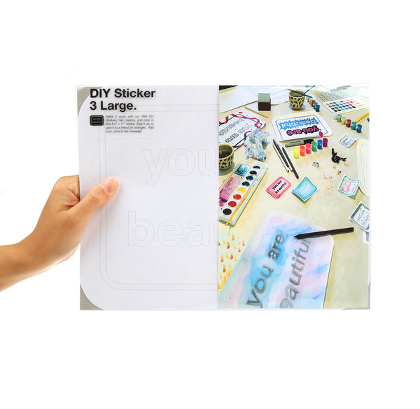 YAB DIY Large Stickers
