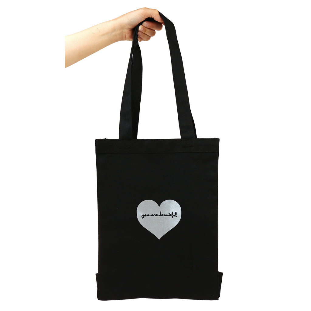 You Are Beautiful Heart Tote Bag