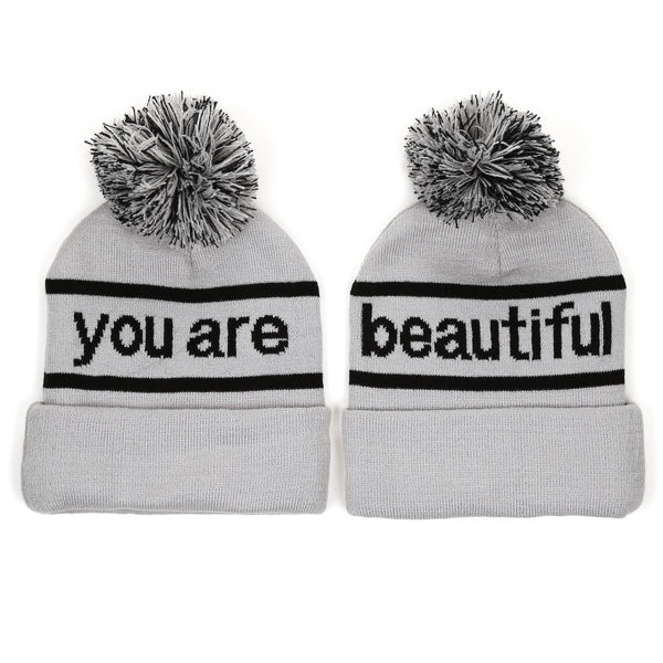 You Are Beautiful Embroidered Beanie