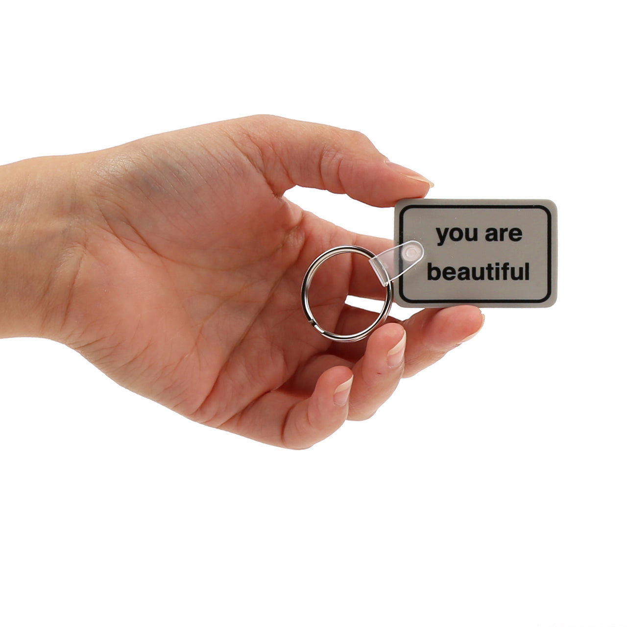 You Are Beautiful Printed Keychain
