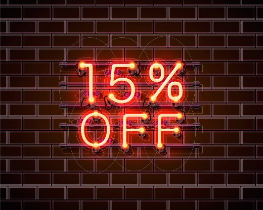 15% Off For VApril 2019