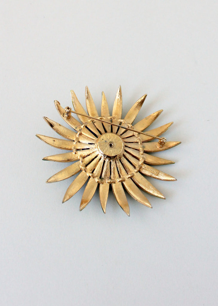 Vintage 1960s Vendome Enamel Flower Brooch