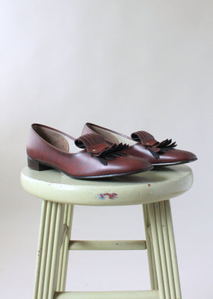 Vintage 1960s NOS Fringed Oxford Loafers