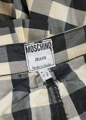 Vintage 1980s Moschino Jeans Party in the Back Mini Skirt