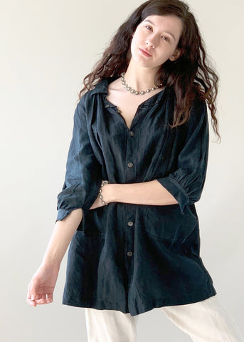 Antique French Indigo Workwear Shirt