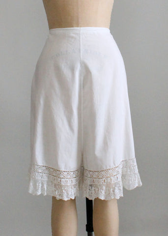 Antique Edwardian Cotton and Lace Bloomers
