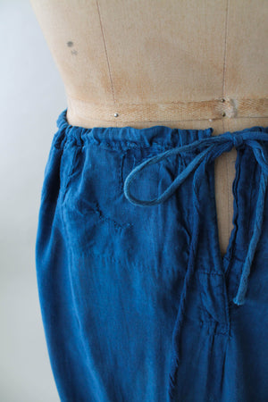 Vintage 1920s Indigo Dyed Cotton Skirt