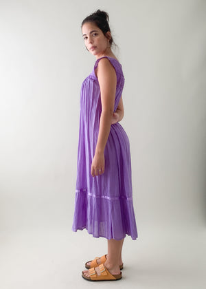 1930s Hand Dyed Cotton Dress