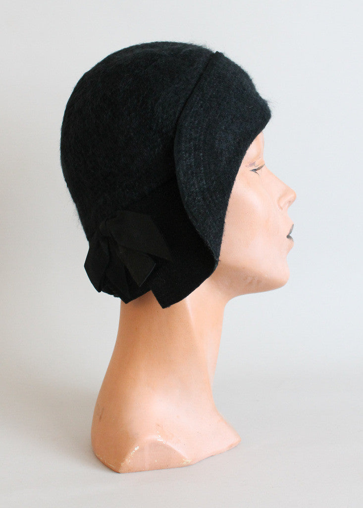 Vintage Late 1920S Winter Cloche Hat - Raleigh Vintage-3220