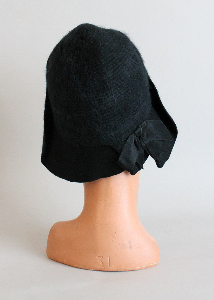Vintage Late 1920s Winter Cloche Hat