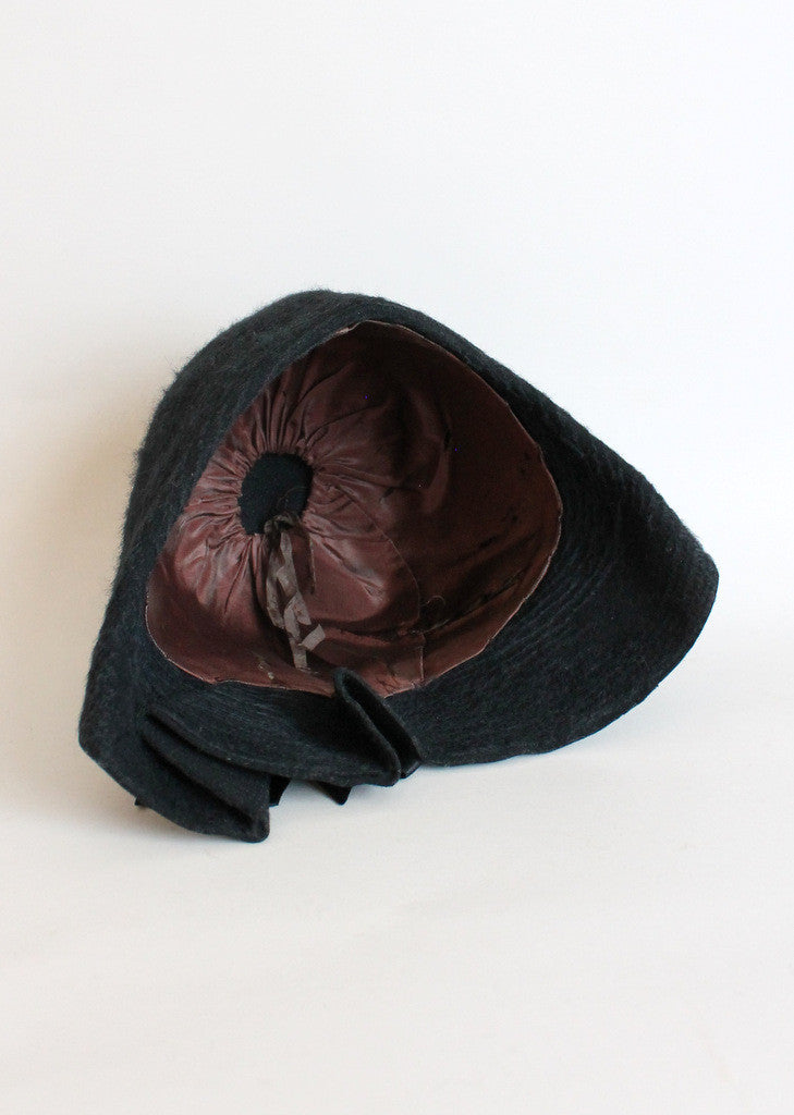 Vintage Late 1920S Winter Cloche Hat - Raleigh Vintage-9979