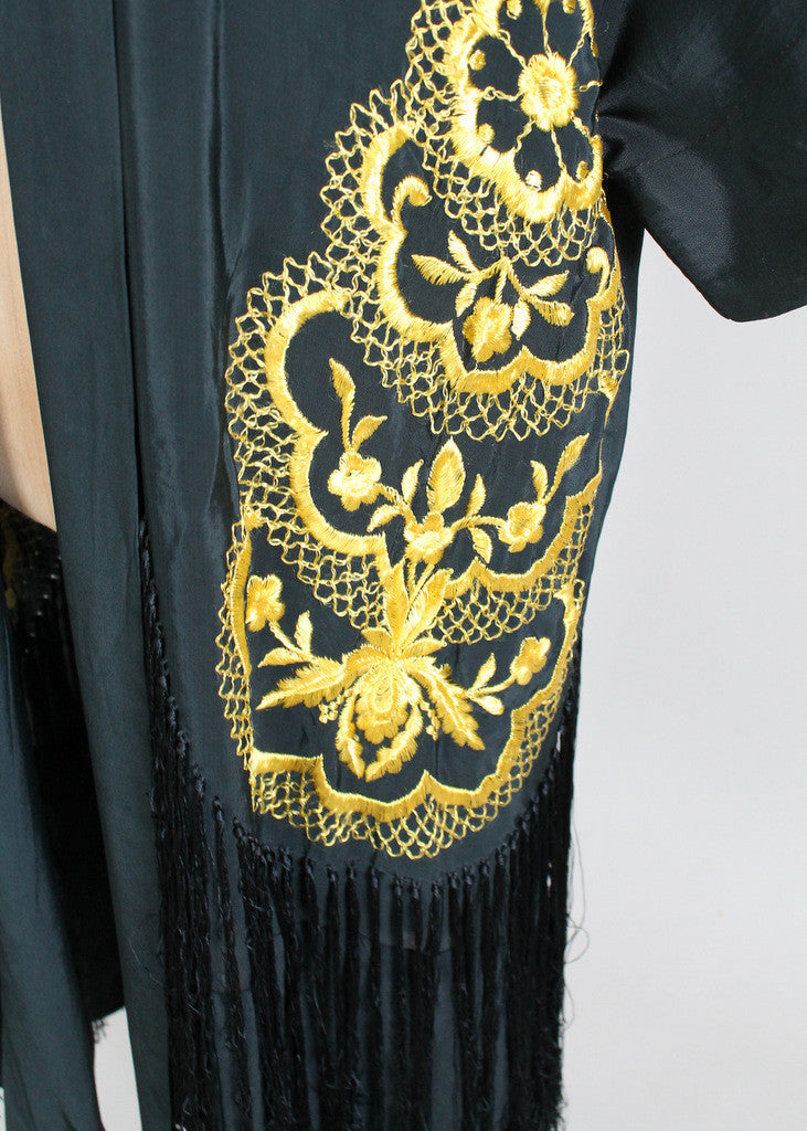 1920s Asian Embroidered Robe