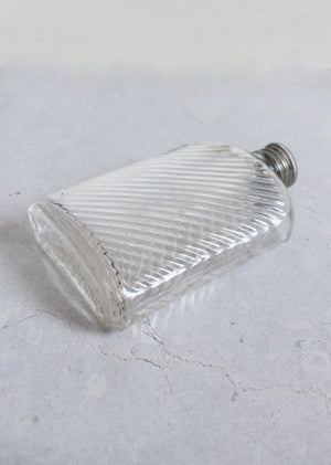 Vintage 1920s Glass Prohibition Era Flask