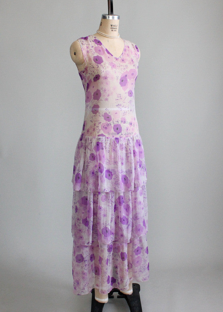 1920s Summer Lawn Party Dress