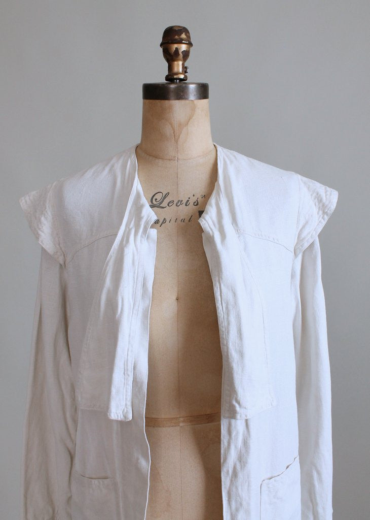 Vintage 1920s Linen Summer Duster Jacket