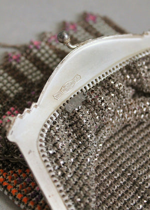 Vintage 1920s Whiting and Davis Colorful Mesh Purse