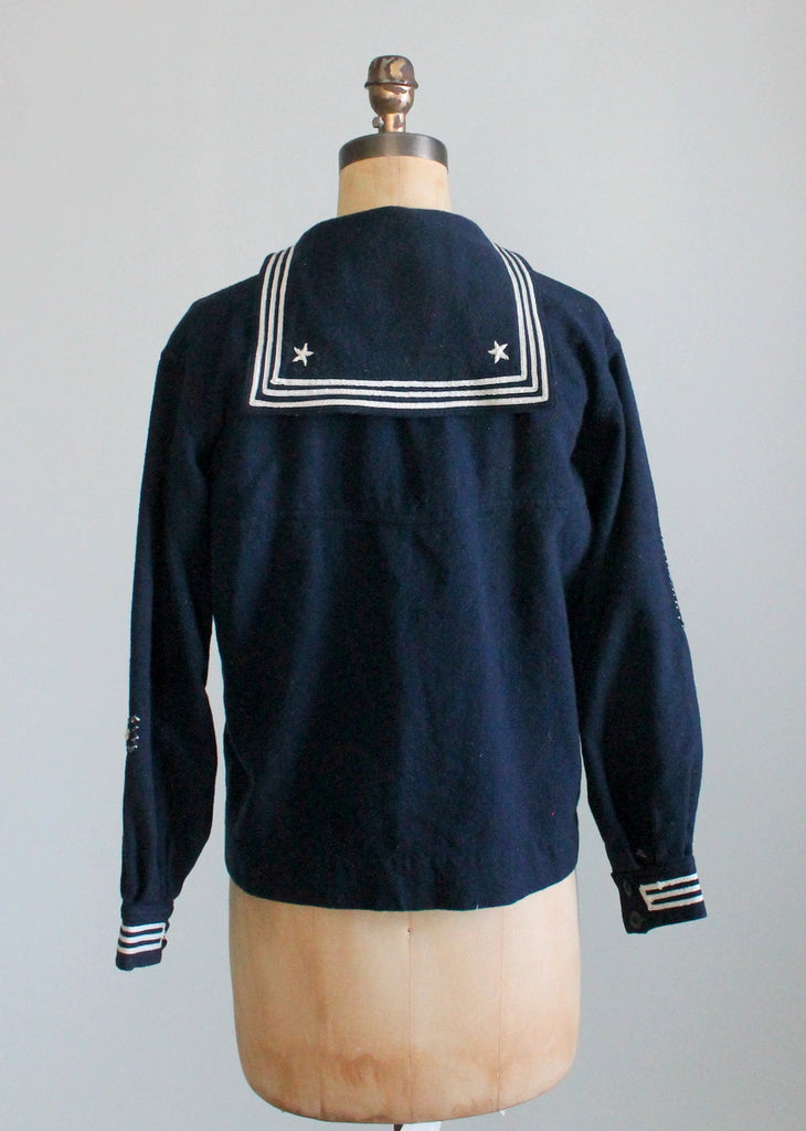 Vintage 1920s Saratoga Wool Sailor Middy Shirt