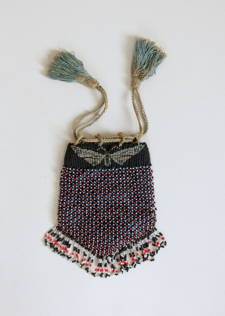 Vintage 1920s Butterfly Beaded Purse