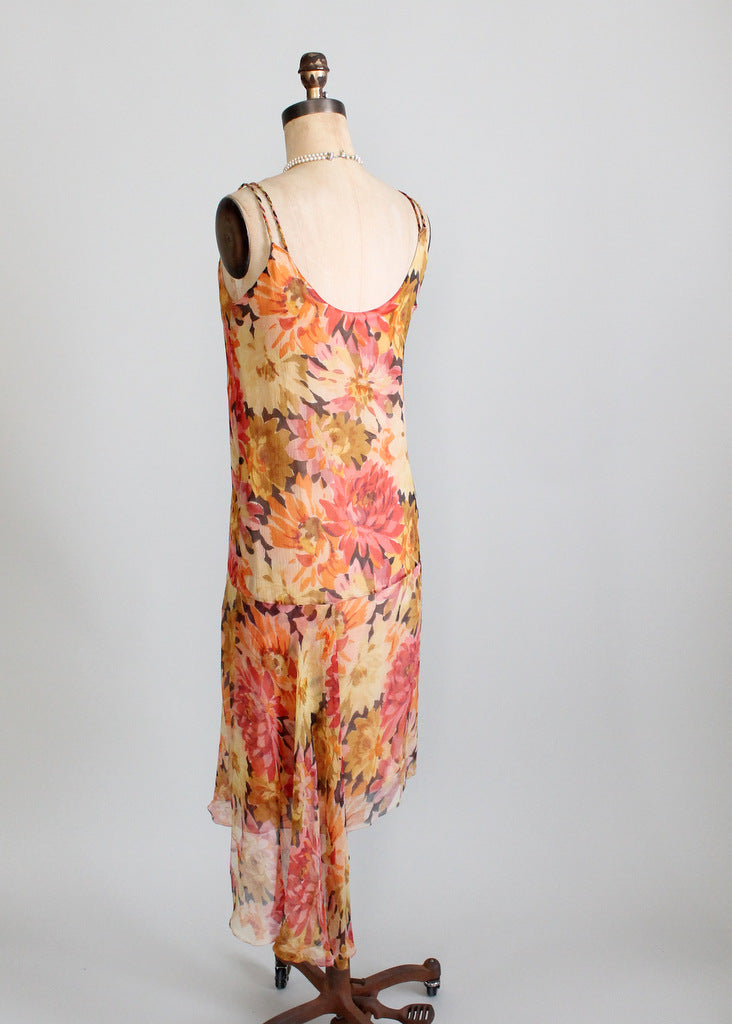 Vintage 1920s gatsby lawn party dress