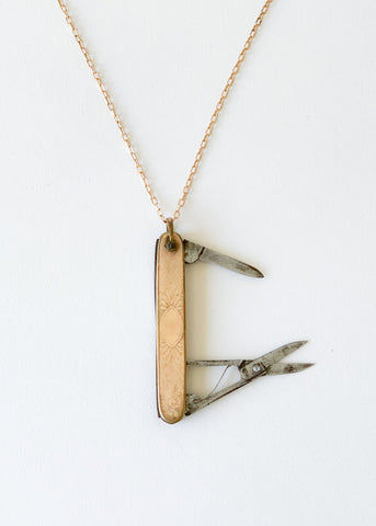 Vintage 1920s Pocket Knife Necklace