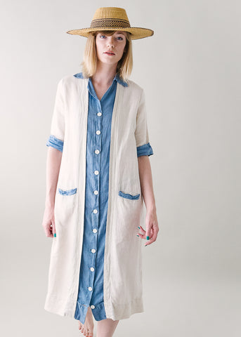 Vintage 1920s Cotton Button Front Day Dress