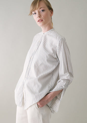 Vintage 1920s Menswear Cotton Stripe Shirt