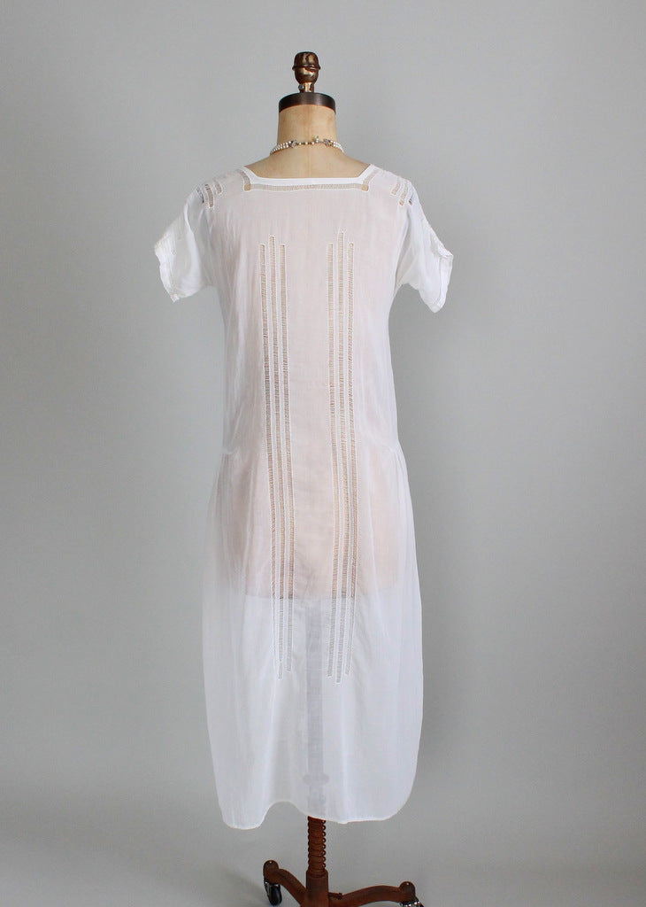Vintage 1920s Summer Cotton Lawn Dress