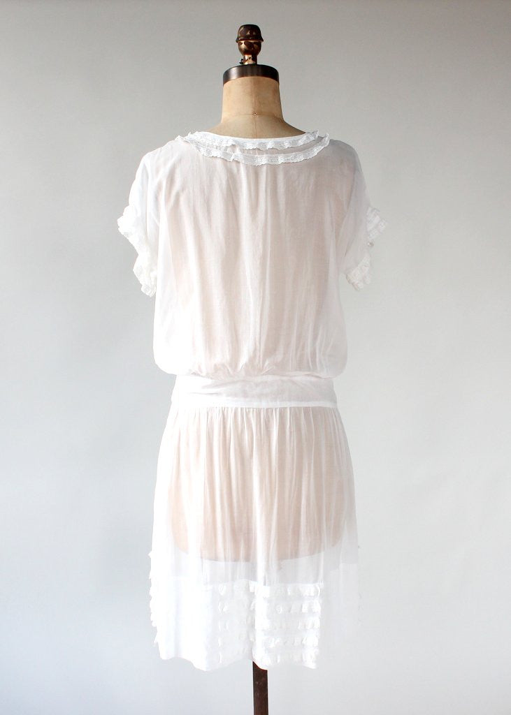 Vintage 1920s School Girl Lawn Dress