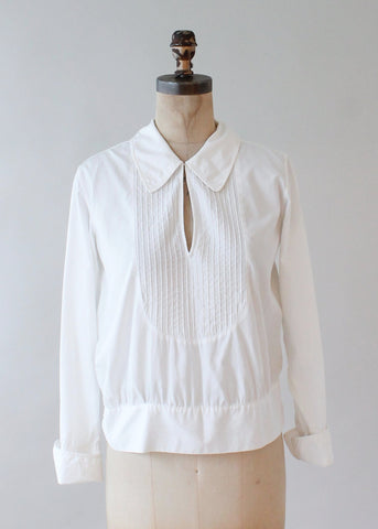 1920s White Cotton Shirt