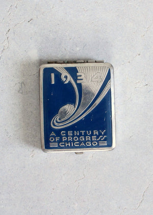 Vintage 1934 Chicago World's Fair Makeup Compact