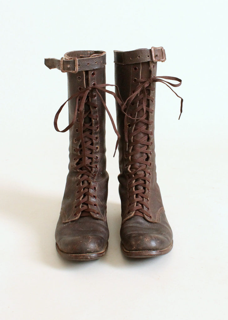 Vintage 1930s Chippewa Tall Lace Up Work Boots