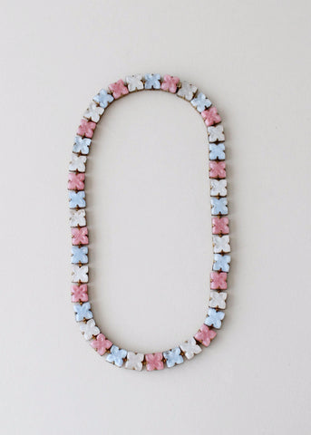 Vintage 1930s Pastel Czech Glass Necklace