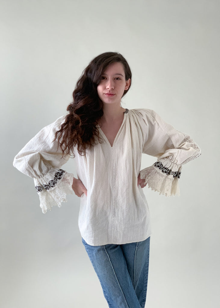 Vintage Eastern European Peasant Blouse
