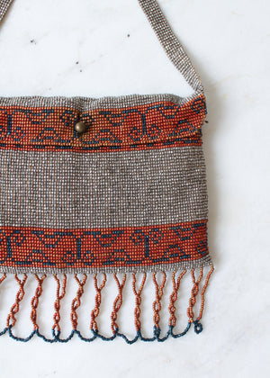 Vintage 1930s Micro Beaded French Purse