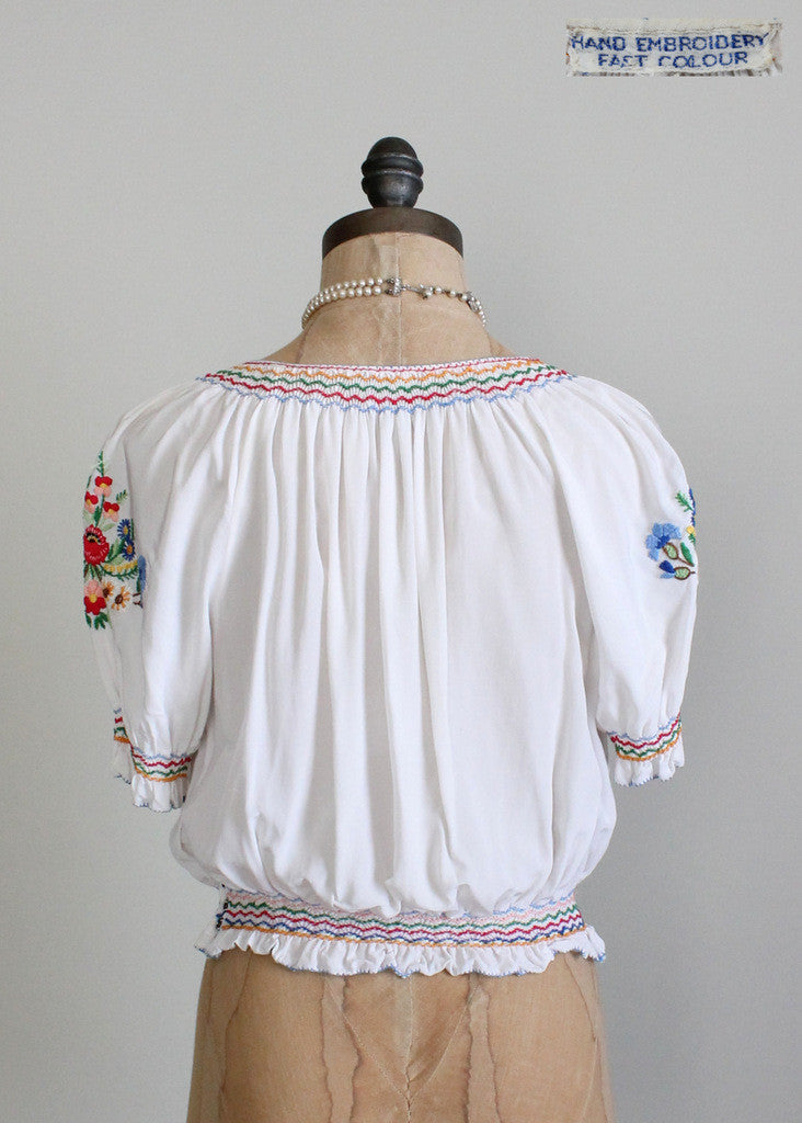 1930s hungarian folk blouse