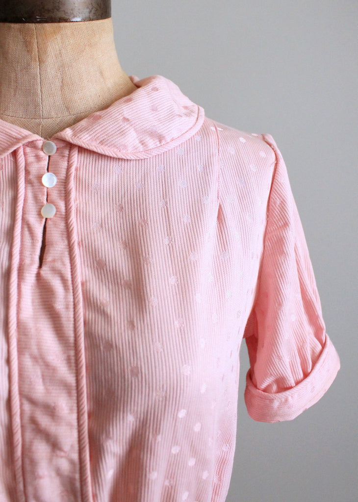 d49243cf85615d Vintage 1930s Pink Polka Dots Cotton Blouse | Raleigh Vintage