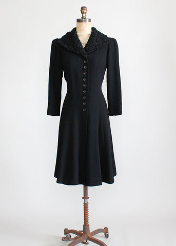1930s Princess Coat with Fur Trim