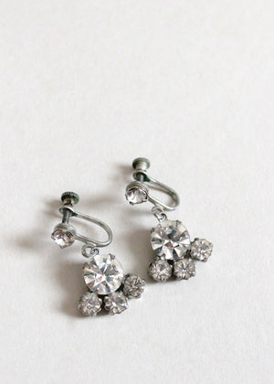 Vintage 1930s Rhinestone Dangle Earrings