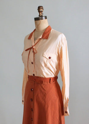 Vintage 1930s Sandeze Sportswear Travel Dress Set