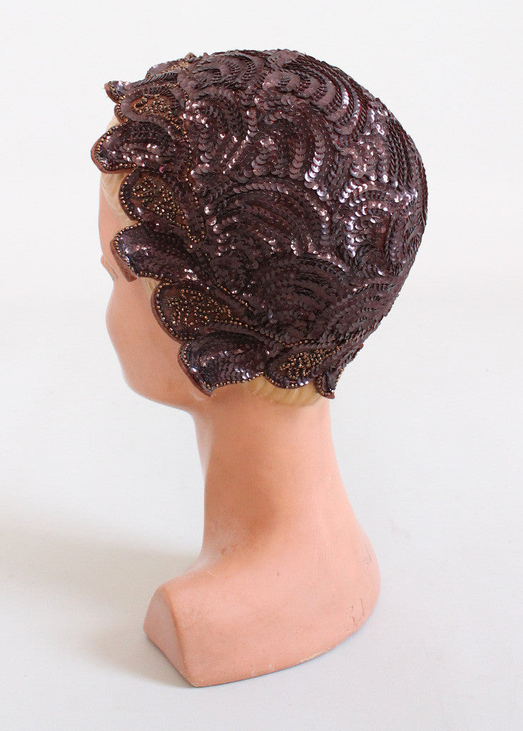 Vintage 1940s Sequined Petal Hat