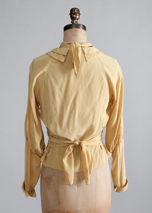 Vintage 1930s Art Deco Silk Blouse