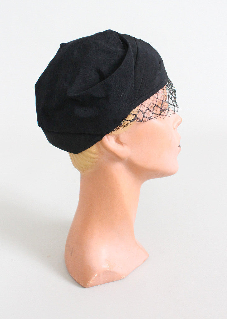 Vintage 1930s Noir Veiled NRA Label Hat