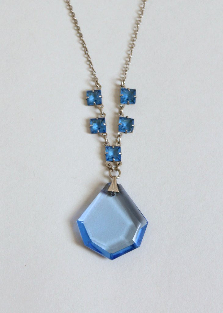 store format necklace maryska blue glass collection